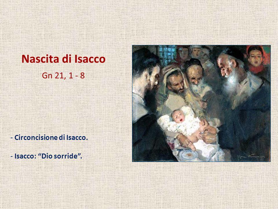 Nascita di Isacco Gn 21, 1 - 8 Circoncisione di Isacco.