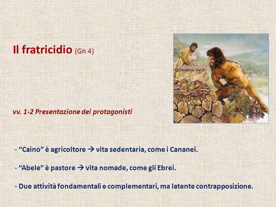 Il fratricidio (Gn 4) vv. 1-2 Presentazione dei protagonisti