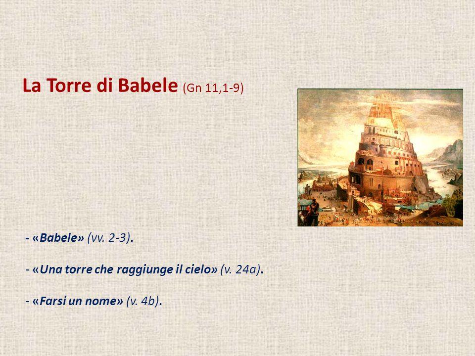 La Torre di Babele (Gn 11,1-9)