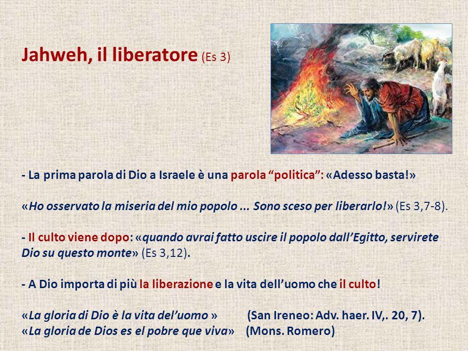 Jahweh, il liberatore (Es 3)