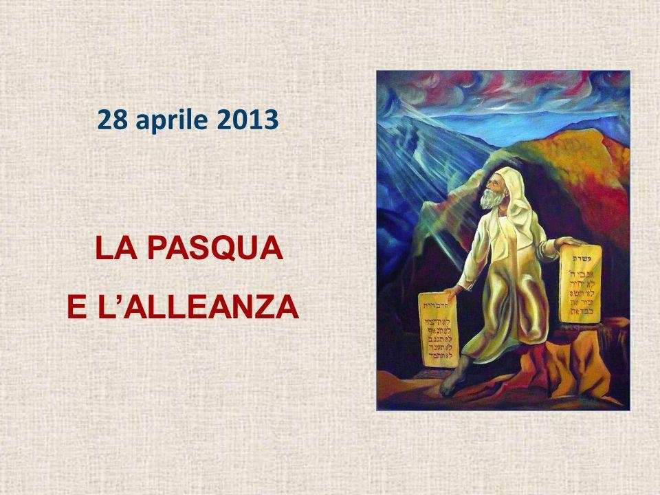 28 aprile 2013 LA PASQUA E L'ALLEANZA
