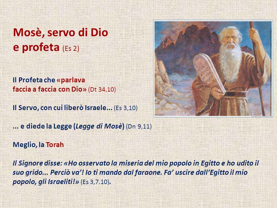 Mosè, servo di Dio e profeta (Es 2) Il Profeta che «parlava