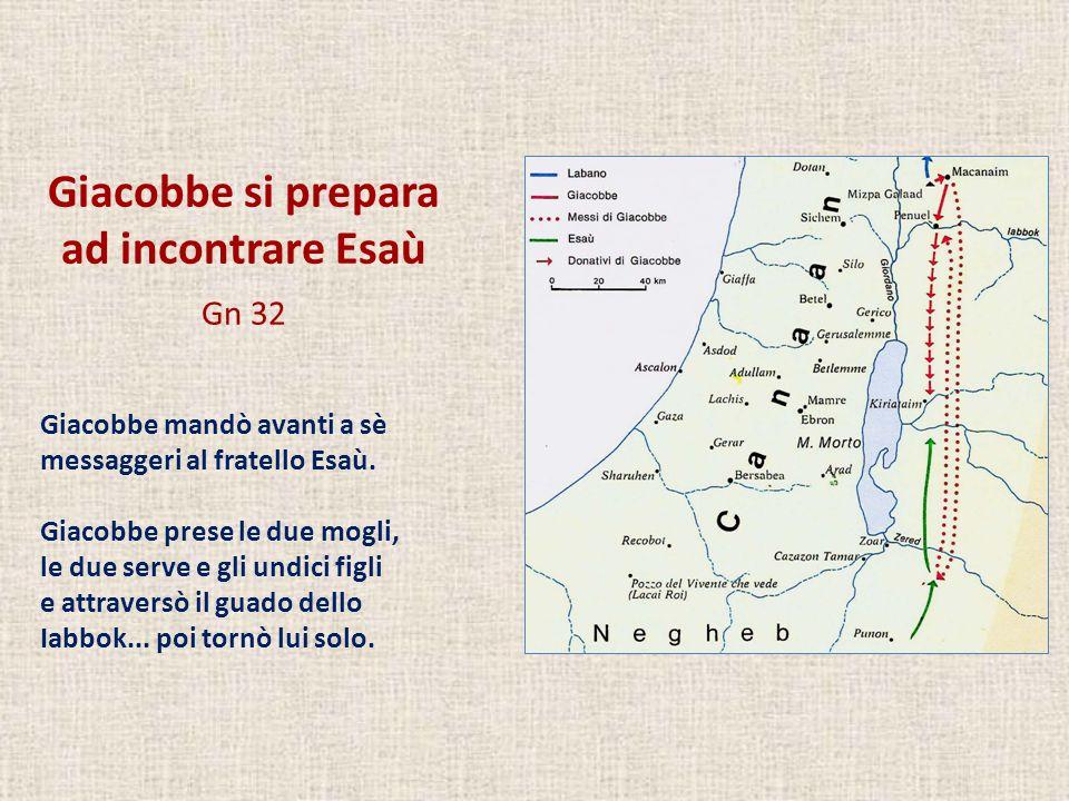 Giacobbe si prepara ad incontrare Esaù