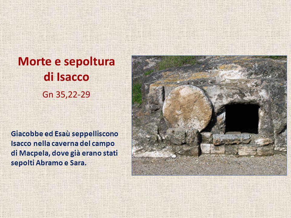 Morte e sepoltura di Isacco Gn 35,22-29