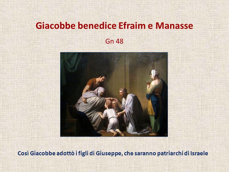 Giacobbe benedice Efraim e Manasse