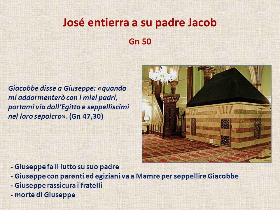 José entierra a su padre Jacob
