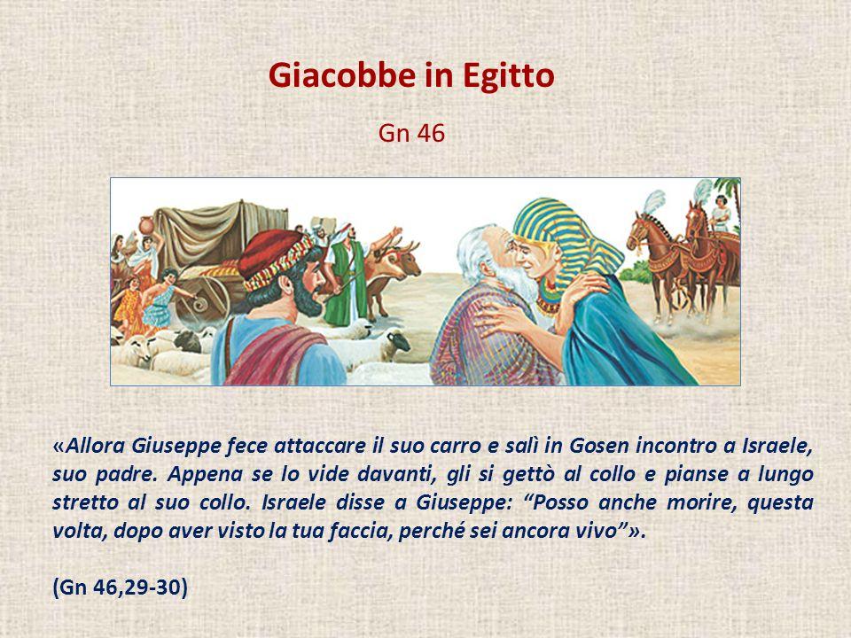 Giacobbe in Egitto Gn 46.