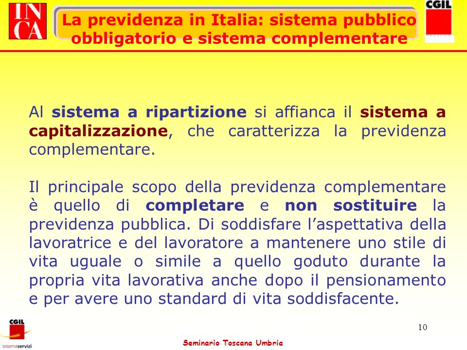 La previdenza in Italia: sistema pubblico obbligatorio e sistema complementare
