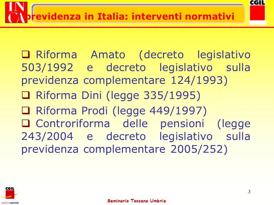 Riforma Prodi (legge 449/1997)