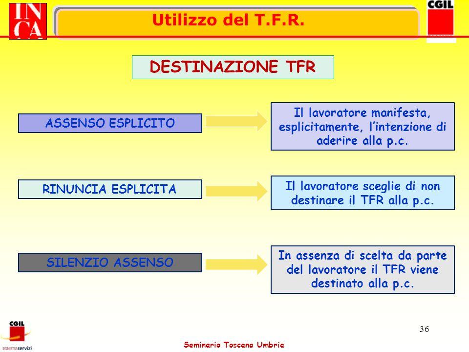 Il lavoratore sceglie di non destinare il TFR alla p.c.