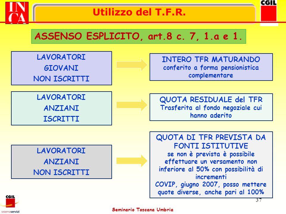 ASSENSO ESPLICITO, art.8 c. 7, 1.a e 1.