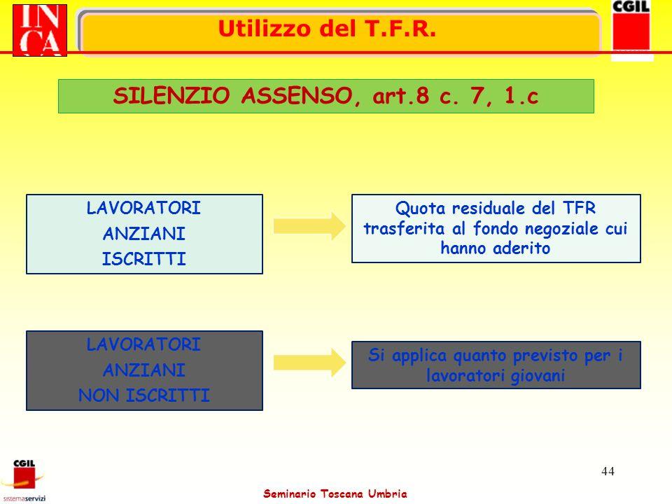 SILENZIO ASSENSO, art.8 c. 7, 1.c