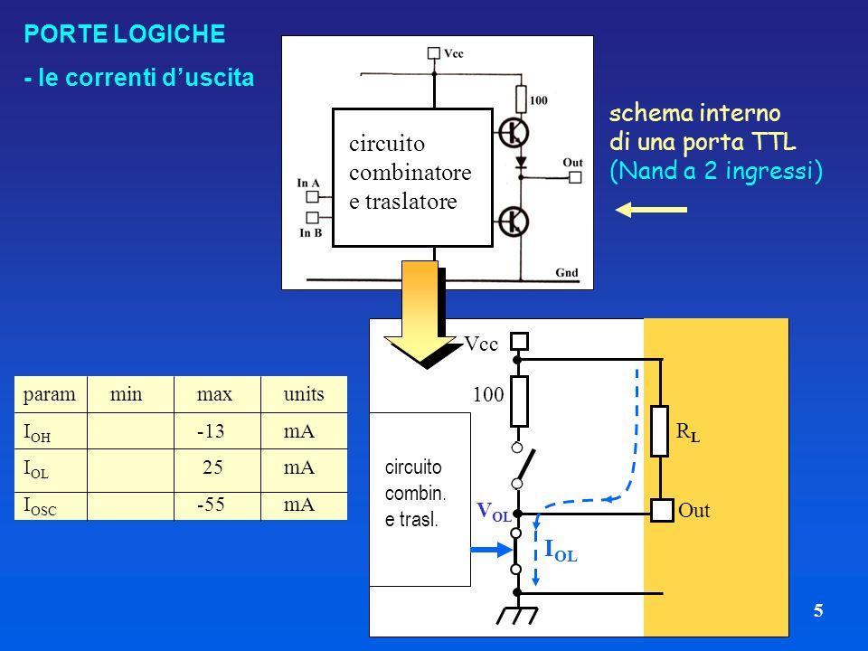schema interno di una porta TTL (Nand a 2 ingressi)