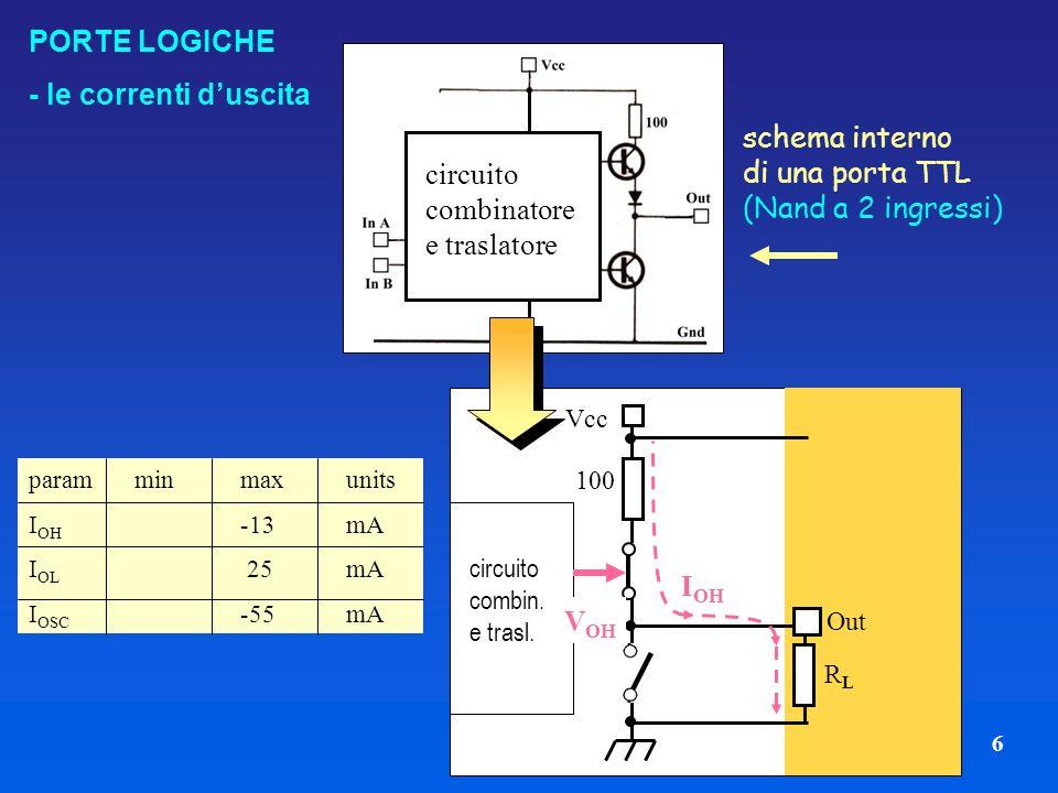 circuito combinatore e traslatore