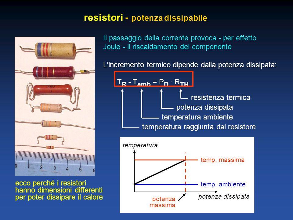 resistori - potenza dissipabile