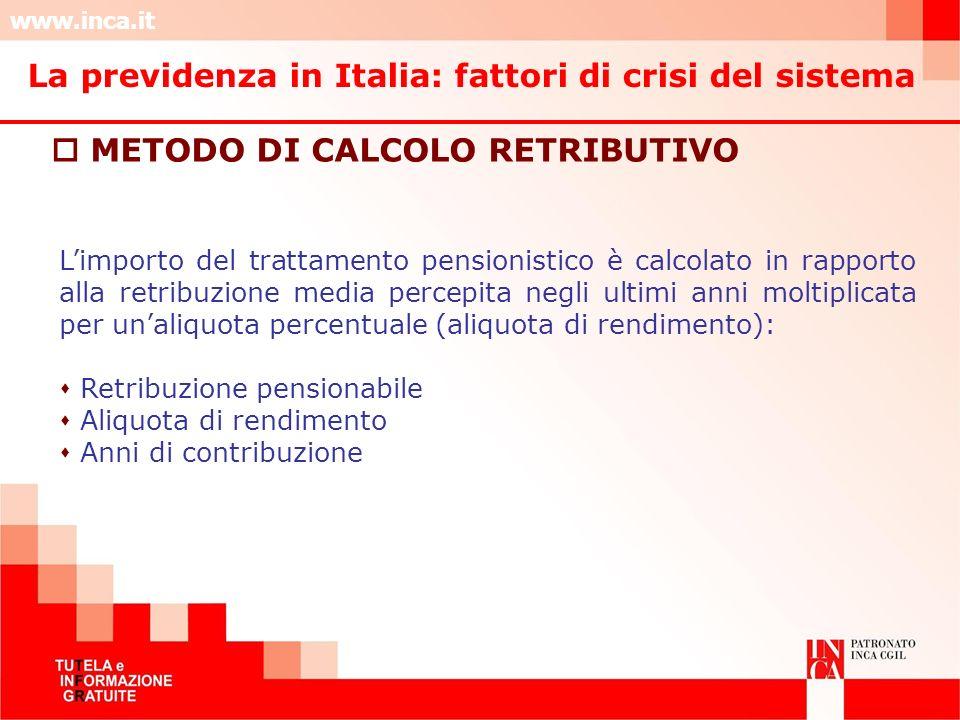 La previdenza in Italia: fattori di crisi del sistema