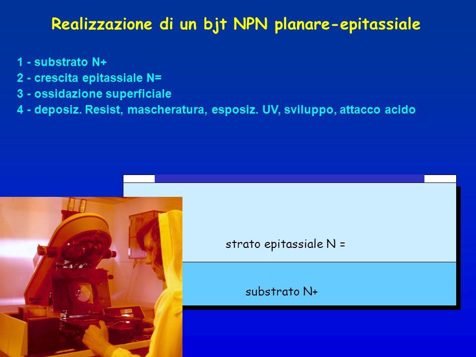 Realizzazione di un bjt NPN planare-epitassiale