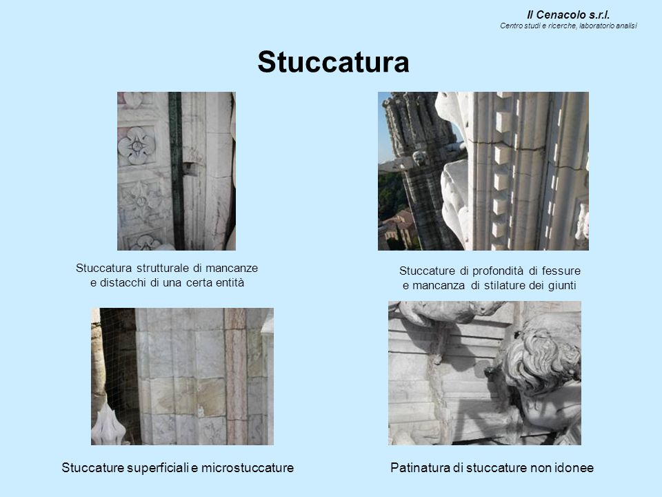 Stuccatura Stuccature superficiali e microstuccature