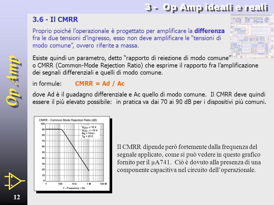 3 - Op Amp ideali e reali 3.6 - Il CMRR