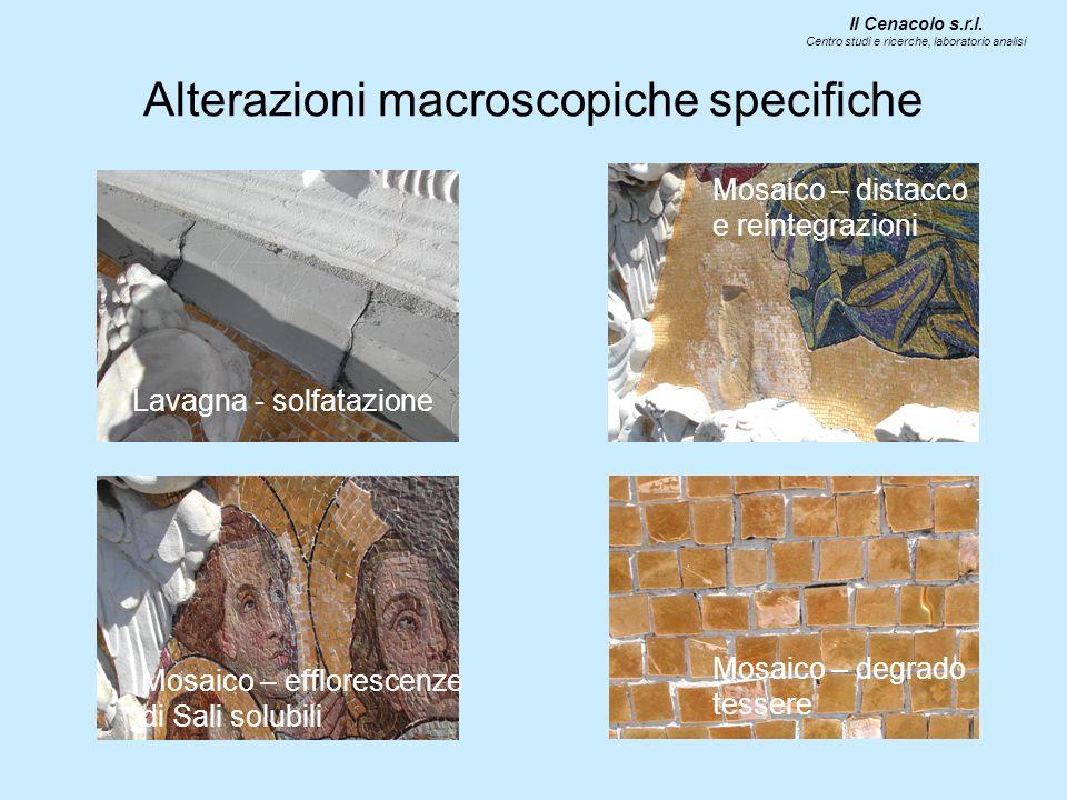 Alterazioni macroscopiche specifiche