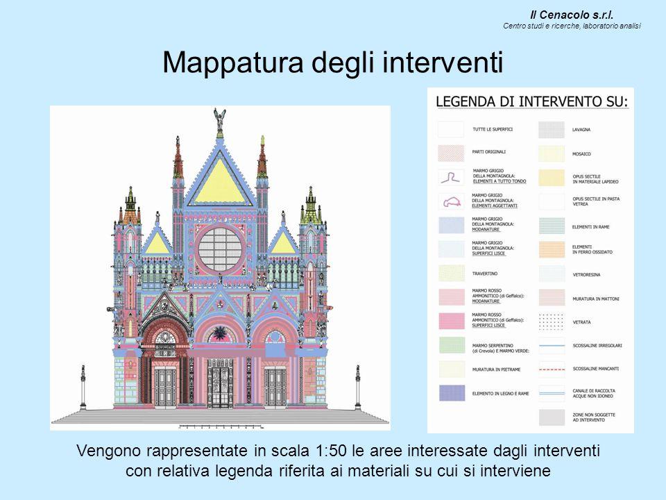 Mappatura degli interventi