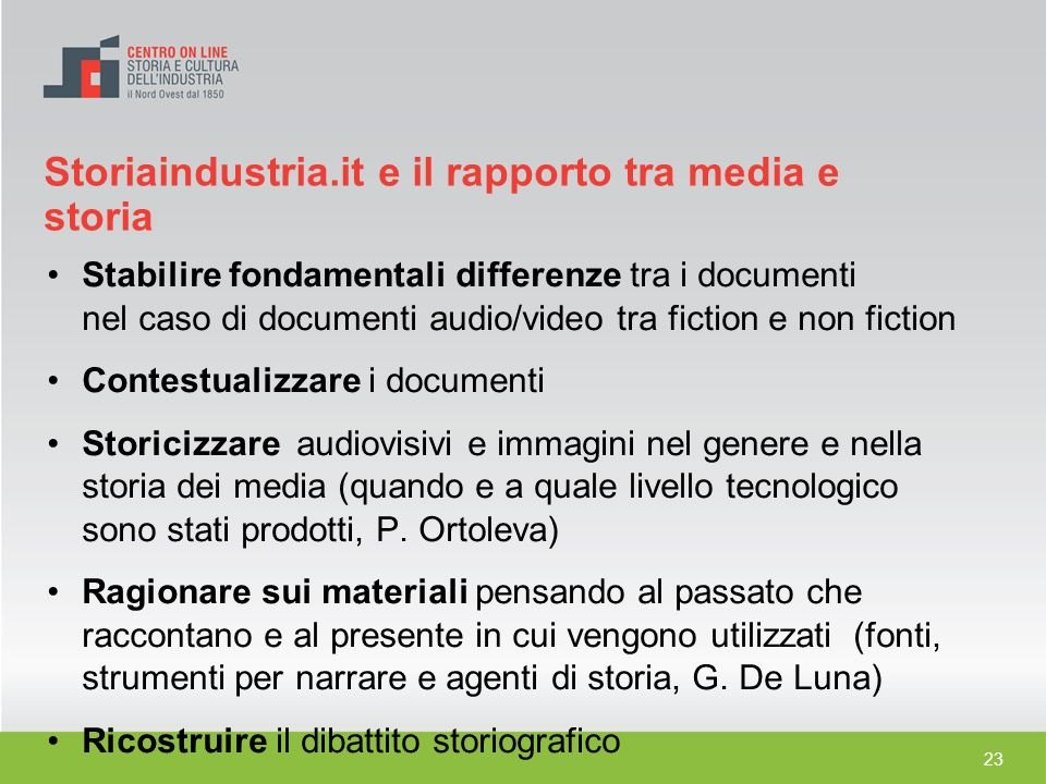 Storiaindustria.it e il rapporto tra media e storia