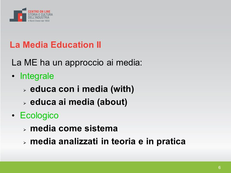 La ME ha un approccio ai media: Integrale educa con i media (with)‏