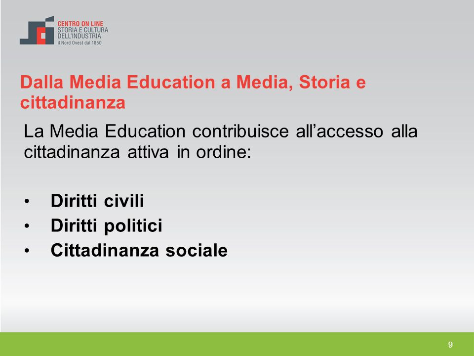 Dalla Media Education a Media, Storia e cittadinanza