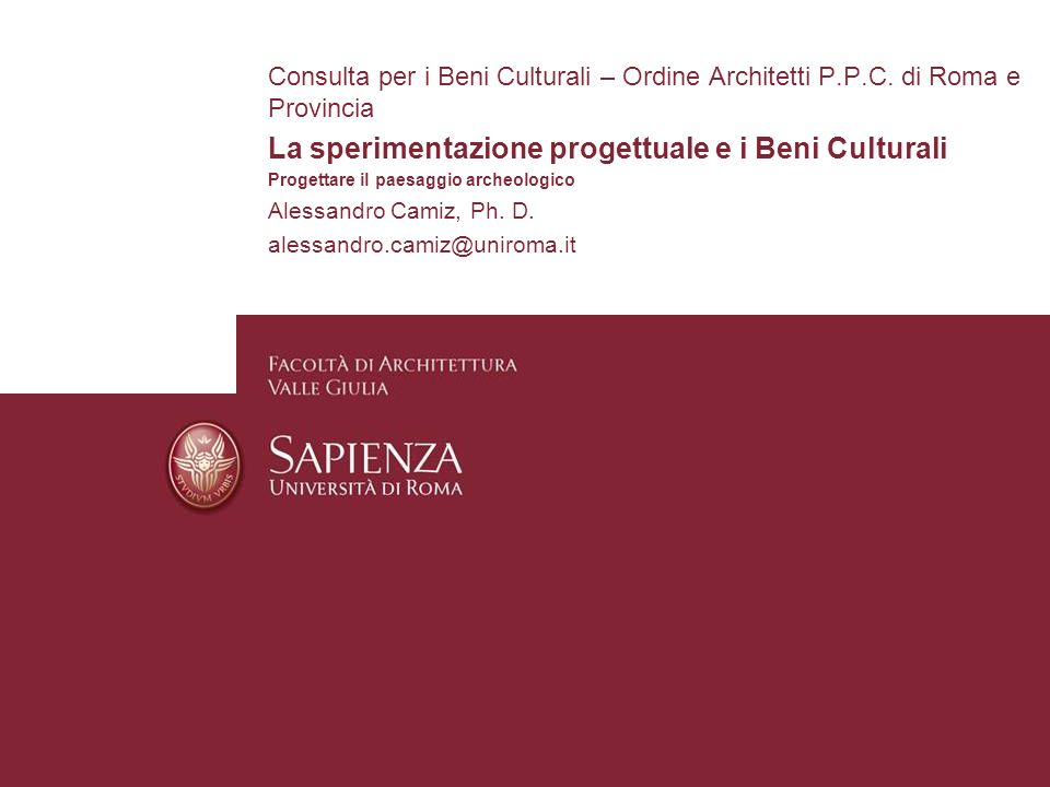 La sperimentazione progettuale e i Beni Culturali