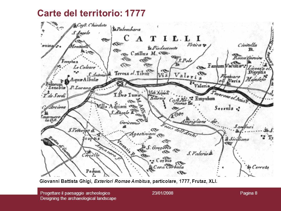 Carte del territorio: 1777 Giovanni Battista Ghigi, Exteriori Romae Ambitus, particolare, 1777, Frutaz, XLI.
