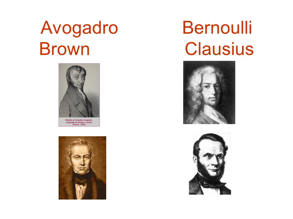 Avogadro Bernoulli Brown Clausius
