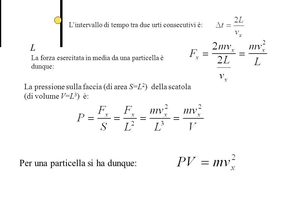Per una particella si ha dunque: