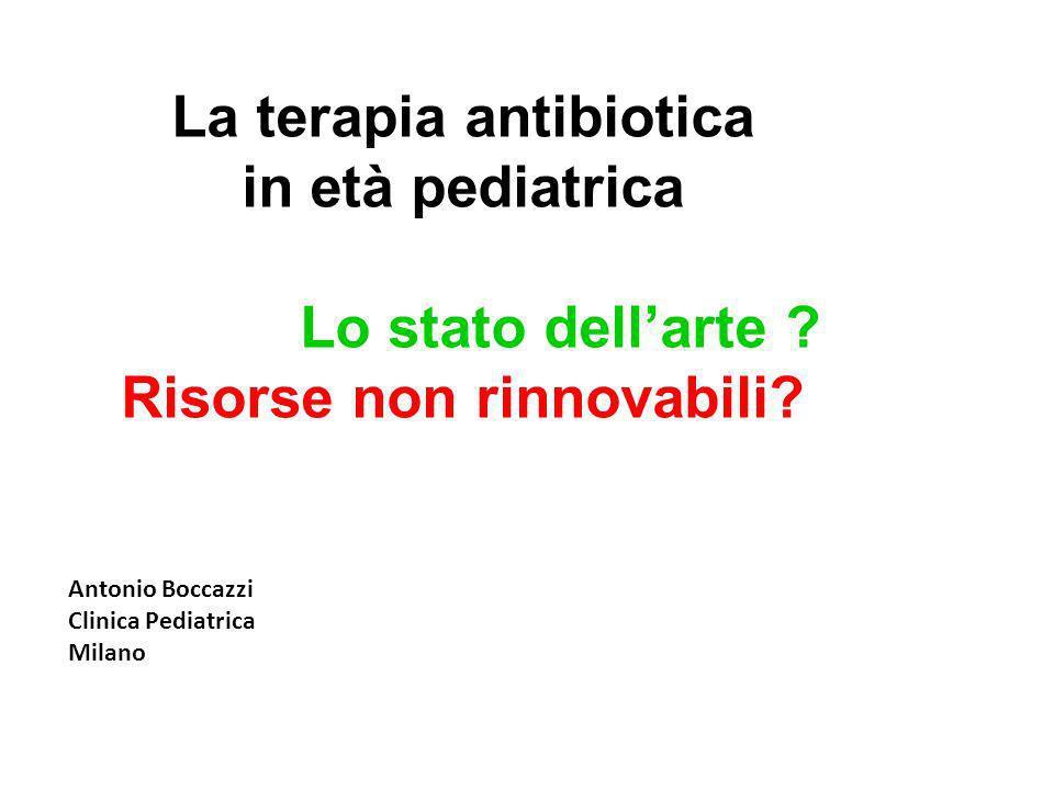 La terapia antibiotica Risorse non rinnovabili