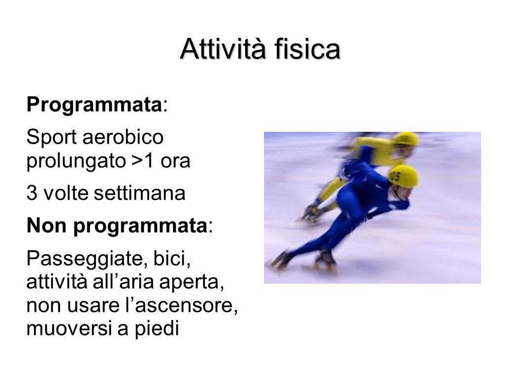 Attività fisica Programmata: Sport aerobico prolungato >1 ora