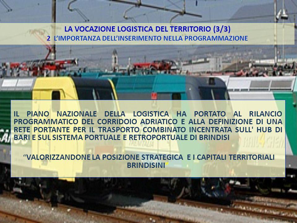 LA VOCAZIONE LOGISTICA DEL TERRITORIO (3/3) 2 L'IMPORTANZA DELL'INSERIMENTO NELLA PROGRAMMAZIONE