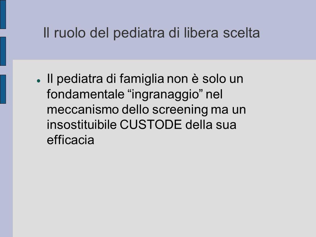 Il ruolo del pediatra di libera scelta