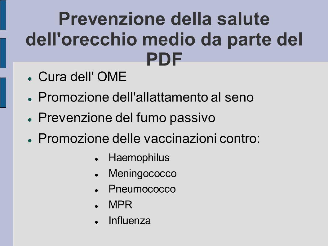 Prevenzione della salute dell orecchio medio da parte del PDF
