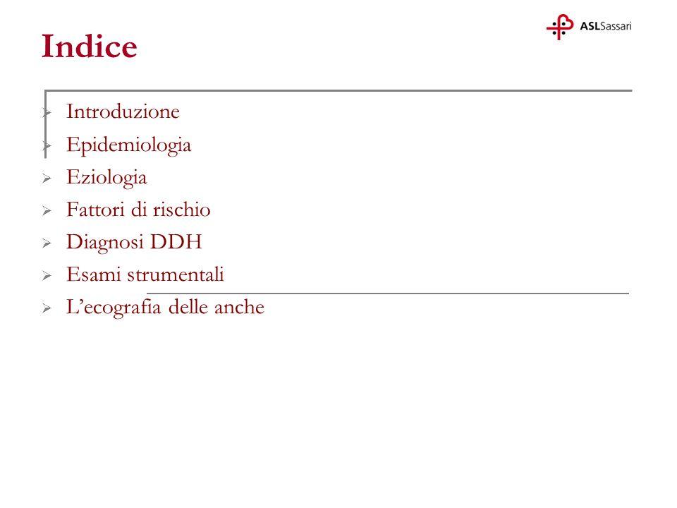 Indice Introduzione Epidemiologia Eziologia Fattori di rischio