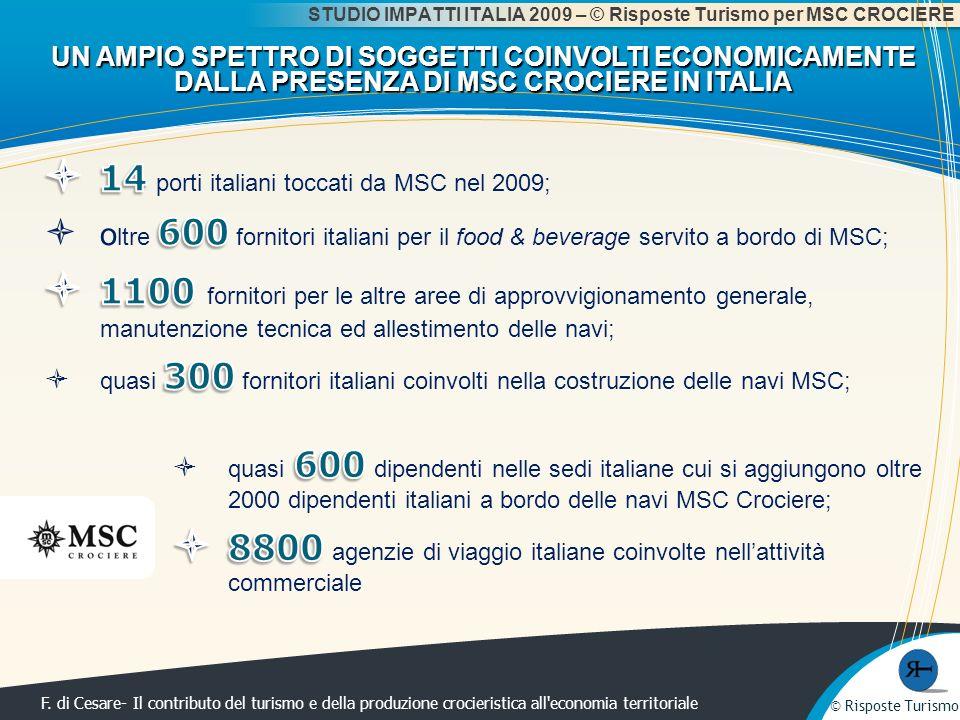 14 porti italiani toccati da MSC nel 2009;