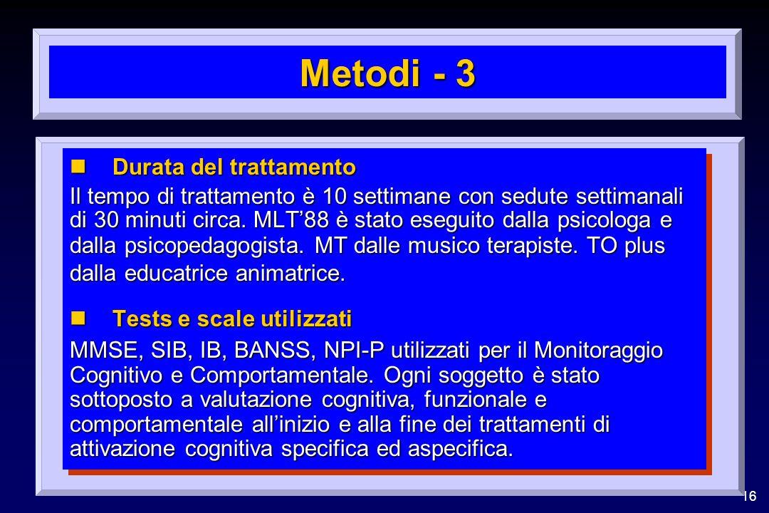 Metodi - 3 Durata del trattamento