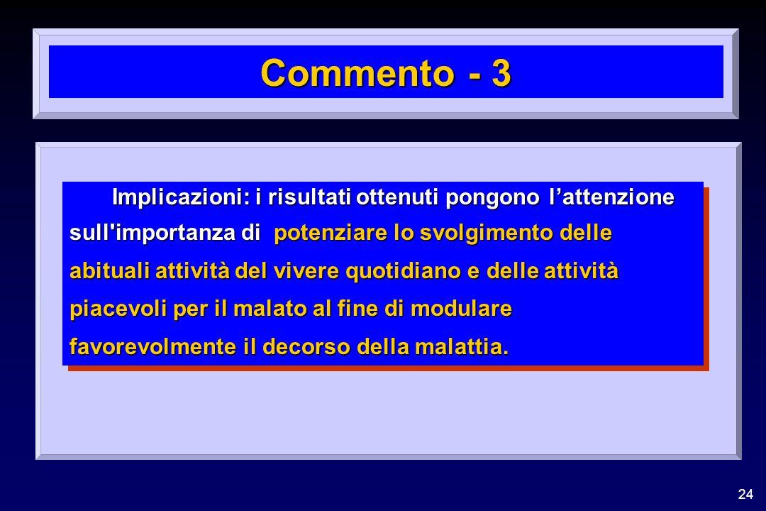 Commento - 3 Implicazioni: i risultati ottenuti pongono l'attenzione
