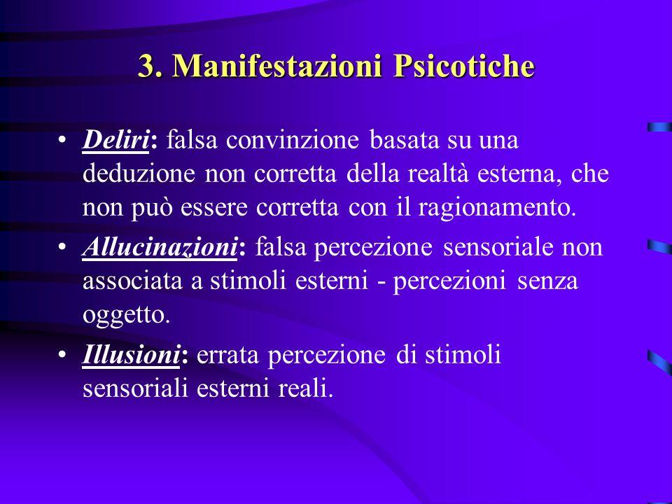 3. Manifestazioni Psicotiche