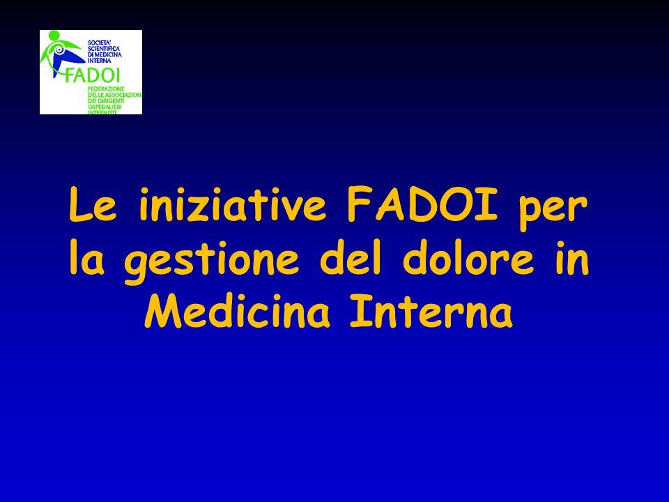 Le iniziative FADOI per la gestione del dolore in Medicina Interna