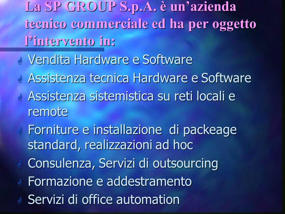 La SP GROUP S.p.A. è un'azienda tecnico commerciale ed ha per oggetto l'intervento in: