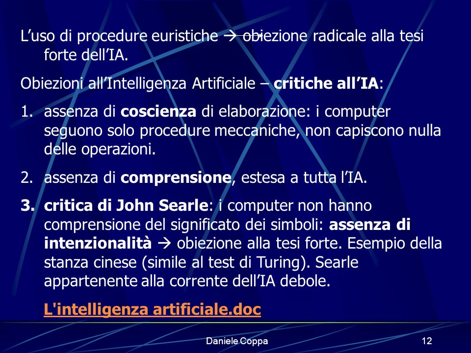 Obiezioni all'Intelligenza Artificiale – critiche all'IA: