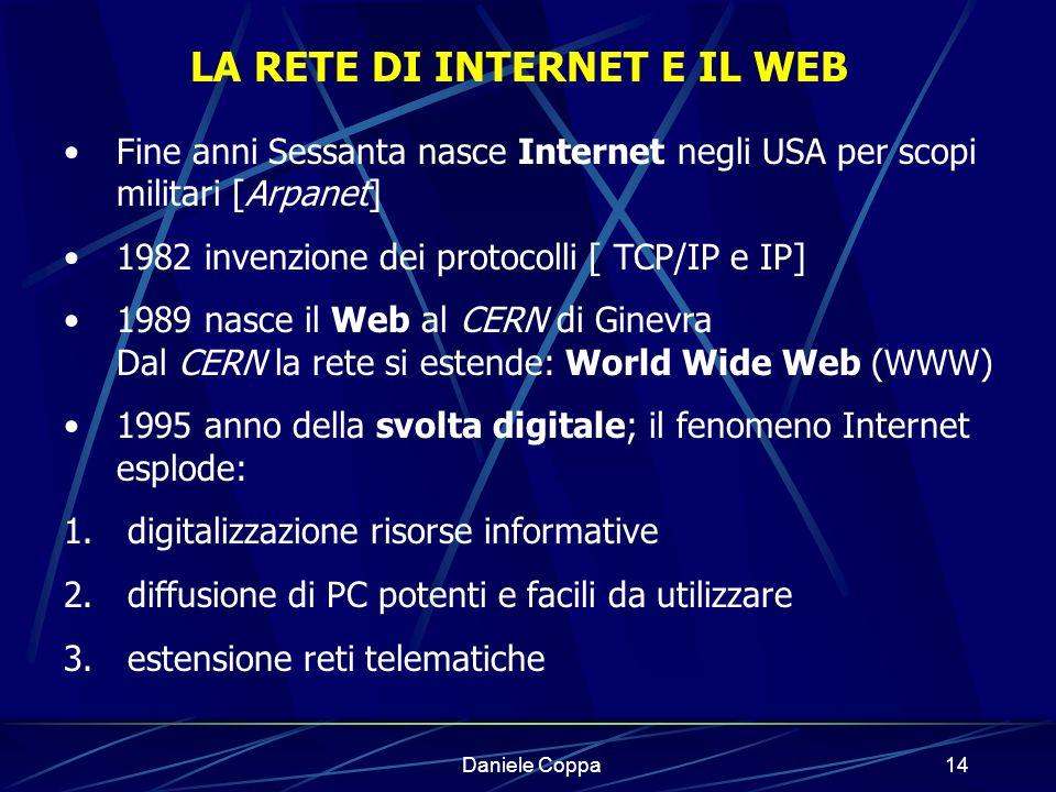 LA RETE DI INTERNET E IL WEB