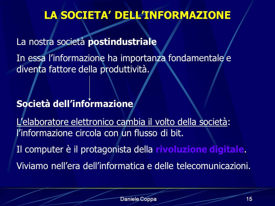 LA SOCIETA' DELL'INFORMAZIONE