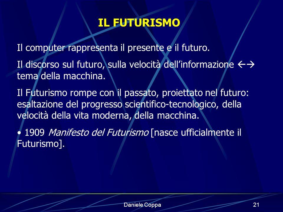IL FUTURISMO Il computer rappresenta il presente e il futuro.