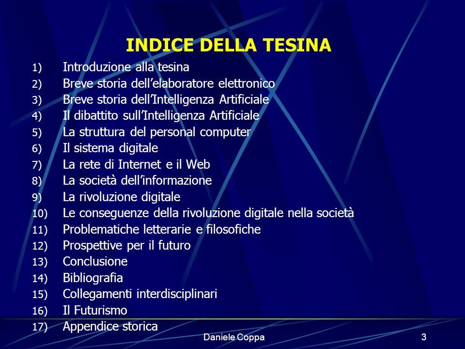 INDICE DELLA TESINA Introduzione alla tesina