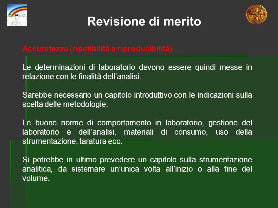 Revisione di merito Accuratezza (ripetibilità e riproducibilità)